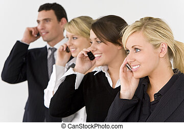 communications affaires, équipe