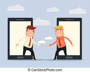 Communications concept. Vector flat illustration