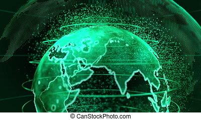 communications, fond, la terre, business, 3d, technologie, rendre, vert