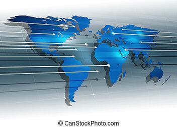 communications, global, numérique