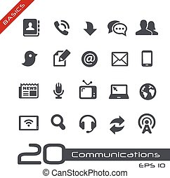 Communications Icon Set -- Basics - Vector icons for web,...