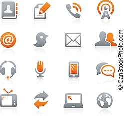 Communications Icons -- Graphite - Vector icons for your...
