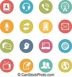 Communications Icons - Icons and buttons in different...