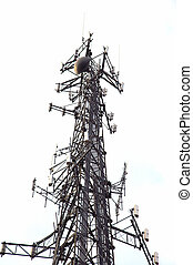 Communications Tower - Communications or Cell Tower isolated...