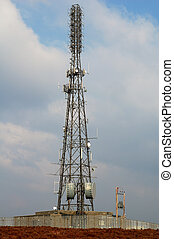 Communications Tower - Communications tower on top of a hill...