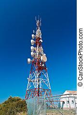 Communications Tower - Communications tower with a beautiful...