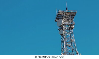 communications tower image of communication mobile internet antenna