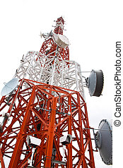 Communications Tower isolate on white background