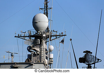 communications tower modern warship