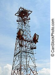 Communications Tower - Photographed communications tower in...