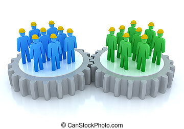 communications, travail, equipes affaires