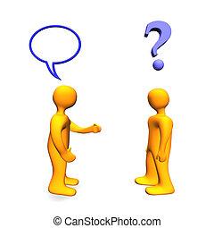 communicaton, problema, 3d