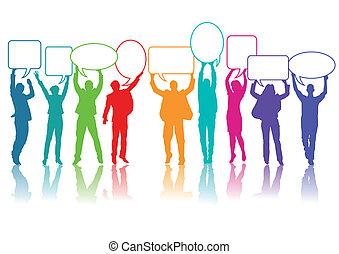 communiceren, mensen