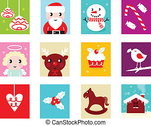 communie, 2, vrijstaand, kalender, -, kerstmis, advent, witte