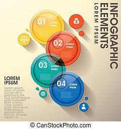 communie, abstract, etiket, infographic, glanzend, cirkel