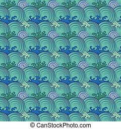 communie, abstract, pattern., seamless, retro, cirkel, geometrisch, rows.