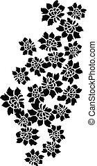 communie, decoratief, floral