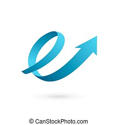 communie, e, mal, ontwerp, richtingwijzer, brief, logo, lus,...