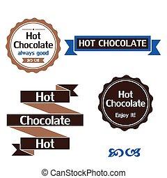 communie, etiketten, chocolade, warme, ontwerp, kentekens