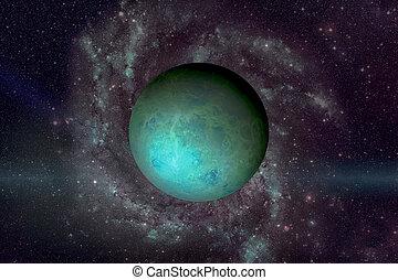 communie, gemeubileerd, dit, beeld, nasa., planeet, uranus.
