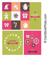 communie, iconen, kerstmis, retro