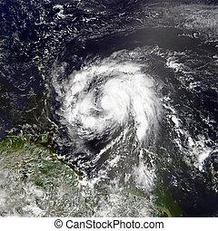 communie, maria., gemeubileerd, dit, beeld, orkaan, nasa.