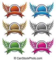 communie, ontwerp, vleugels