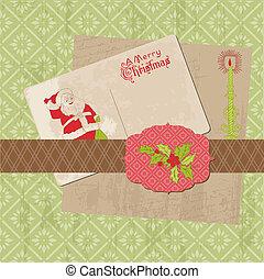 communie, ouderwetse , vector, ontwerp, plakboek, kerstmis