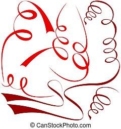communie, spiraal, rood