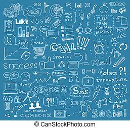 communie, vector, brainstorming, achtergrond