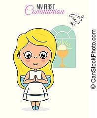 communion, carte, premier
