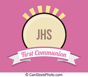 communion, conception, carte, premier