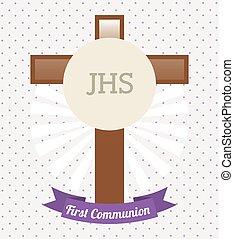 communion, conception, carte, premier