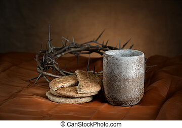 Communion Cup and Bread
