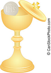 communion cup and host