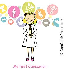 communion, girl, premier
