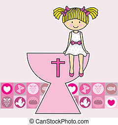 Communion girl. Religion