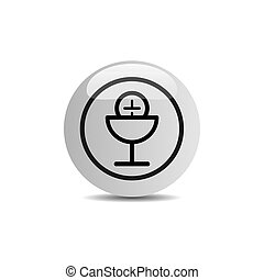 Communion icon in a button on a white background