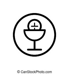 Communion line icon on a white background