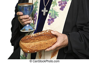 Communion Loaf and Wine Chalice