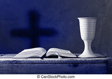 communion under both kinds, shallow depth of field - open...