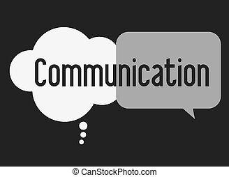 communiquer, vecteur, illusttration, desing