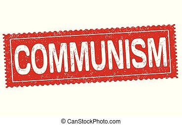 Communism sign or stamp