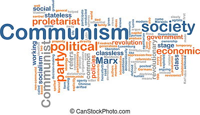 Word cloud concept illustration of comunism economy