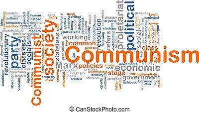 communisme, woord, wolk