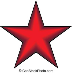 Communist red star on white