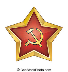 Communist Red Star Vector Illustrat