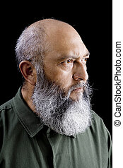 Communist Soldier - Portrait of male communist soldier with...