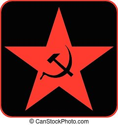 Communist star icon, vector illustration.