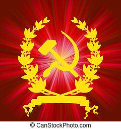 communistic, hintergrund., sowjetisch, eps, 8